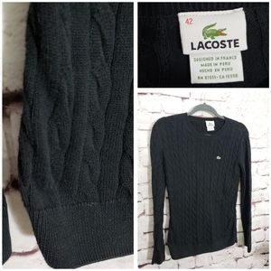 Lacoste Black Pullover Sweater